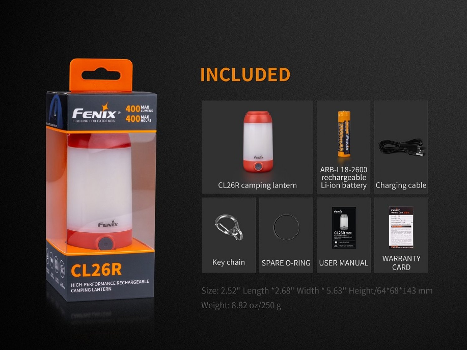 Fenix CL26R LED Campinglampe